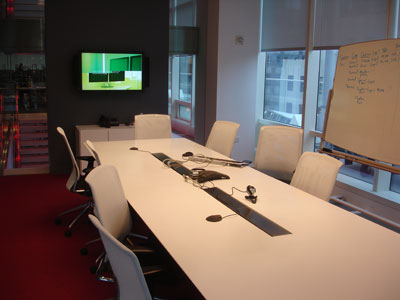 A meeting room, 9th floor, Bloomberg NY.